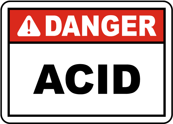 Danger Acid Label