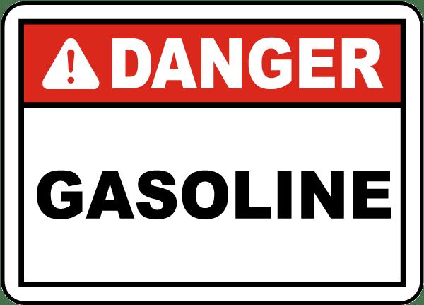 Danger Gasoline Label