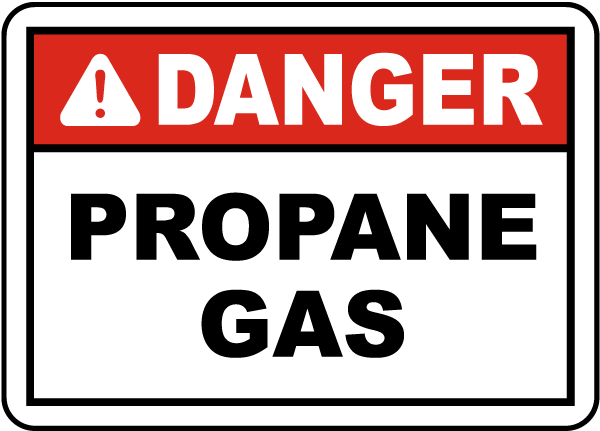 Danger Propane Gas Label