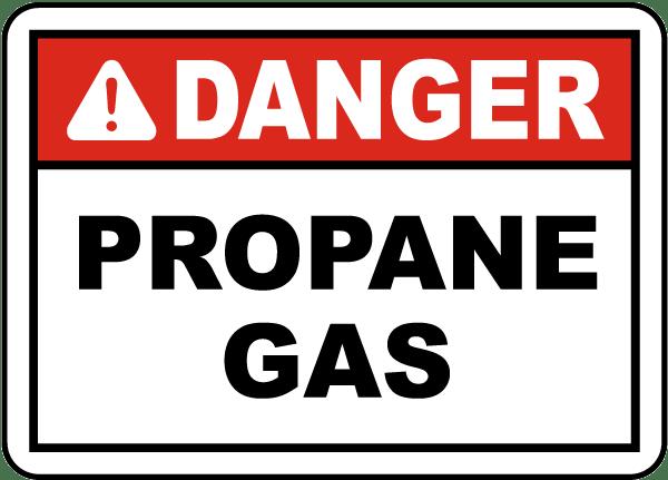 Danger Propane Gas Label