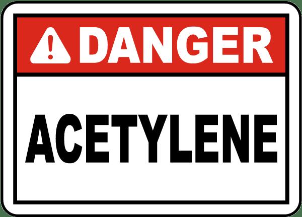 Danger Acetylene Label