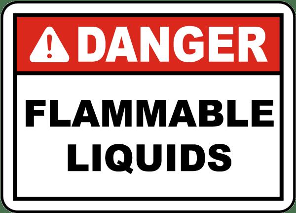 Danger Flammable Liquids Label