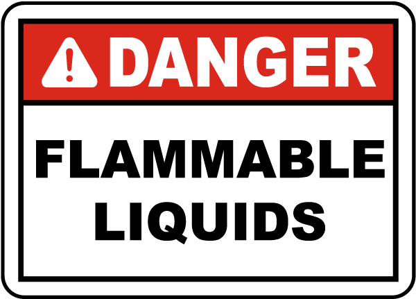 Danger Flammable Liquids Label