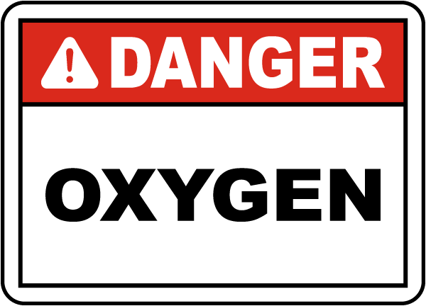 Danger Oxygen Label