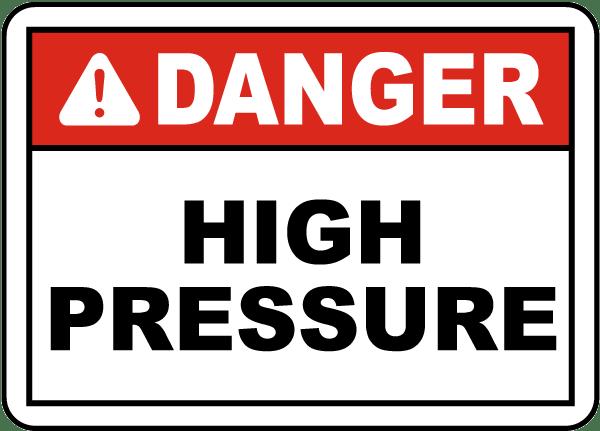 Danger High Pressure Label