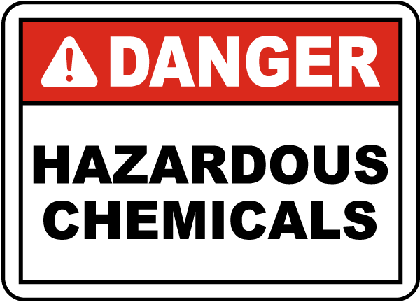Danger Hazardous Chemicals Label