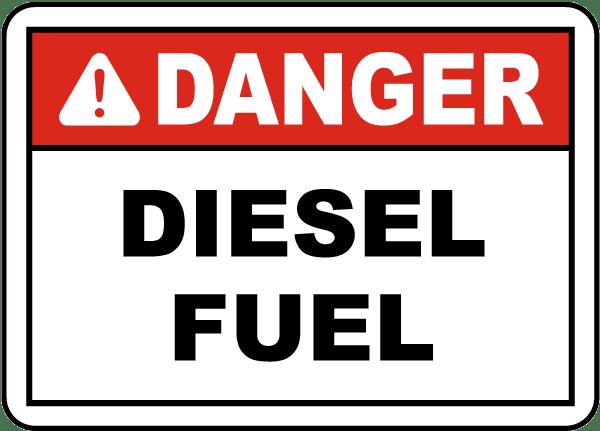 Danger Diesel Fuel Label