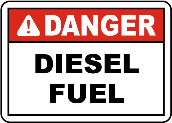 Danger Diesel Fuel Label