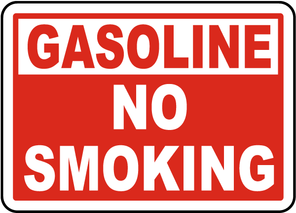Gasoline No Smoking Label