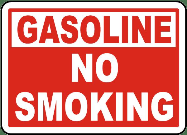 Gasoline No Smoking Label