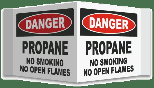 3-Way Propane No Smoking Sign