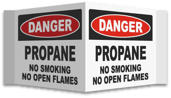 3-Way Propane No Smoking Sign