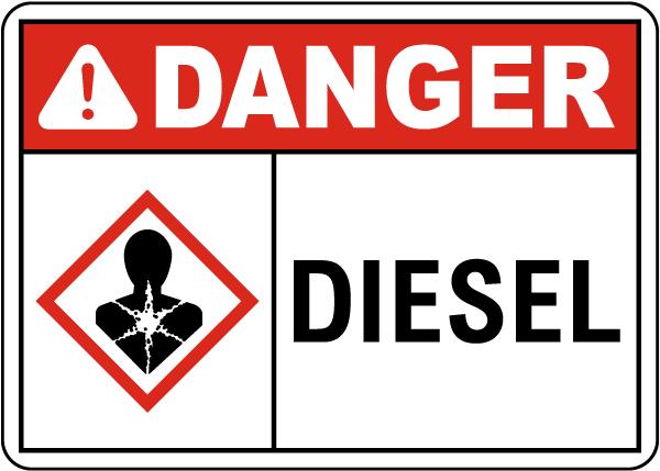 Danger Diesel Sign
