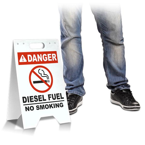 Danger Diesel Fuel No Smoking Floor Stand