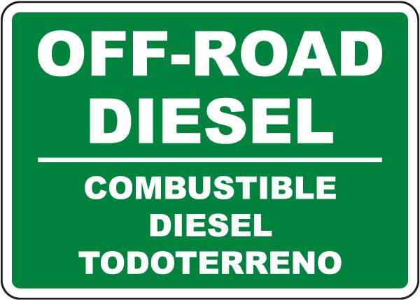 Bilingual Off-Road Diesel Sign