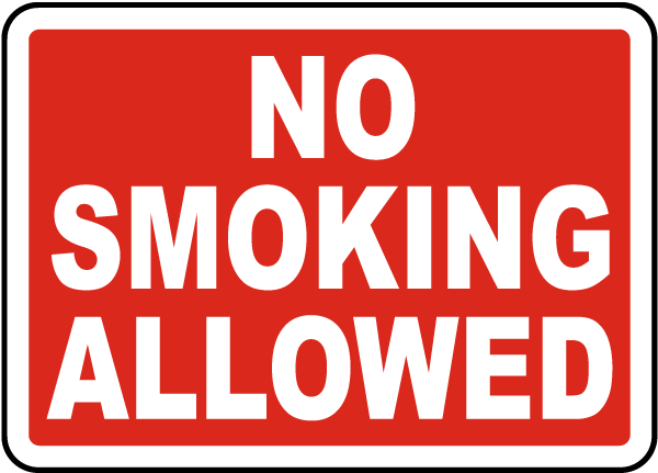 No Smoking Allowed Sign