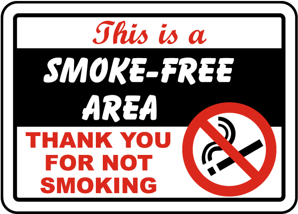 This Is A Smoke Free Area Sign