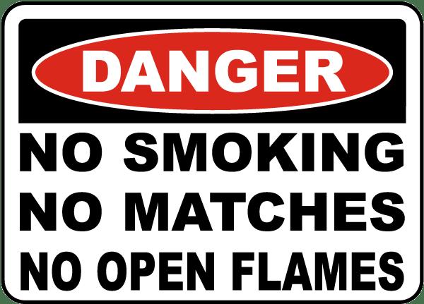 No Smoking No Matches Sign