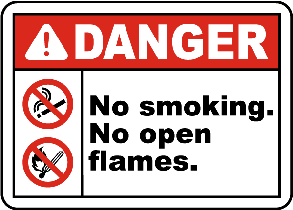 No Smoking No Open Flames Sign