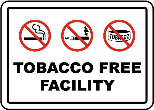 Tobacco Free Facility Sign