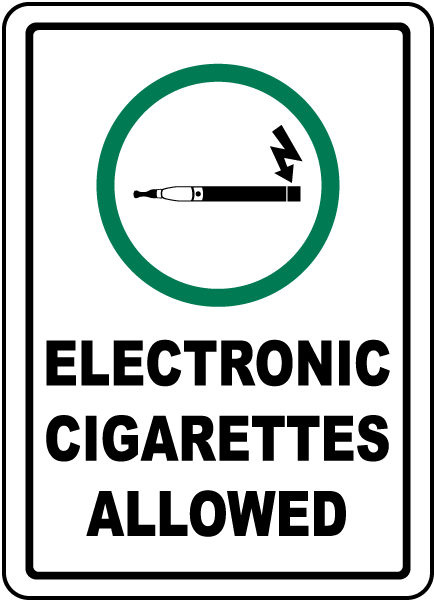 Electronic Cigarettes Allowed Sign