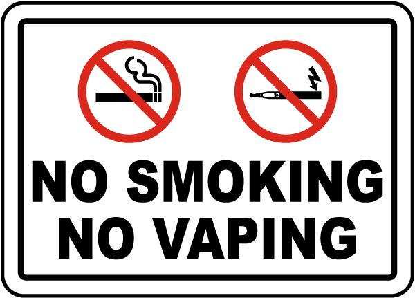No Smoking No Vaping Sign