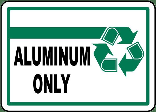 Aluminum Only Label