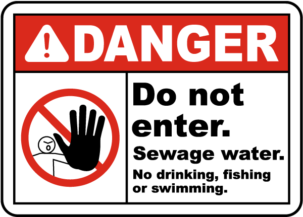Sewage Water No Drinking Sign