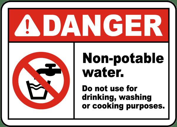 Non-Potable Water Do Not Use Sign