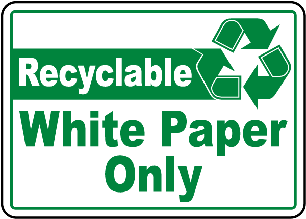 Recyclable White Paper Only Label