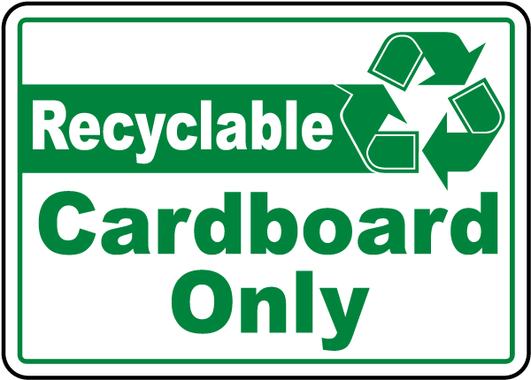 Recyclable Cardboard Label