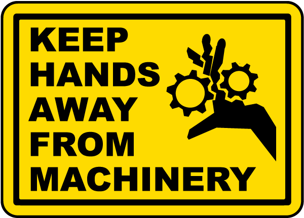 Keep Hands Away Machinery Label