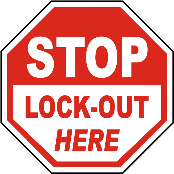 Stop Lock-Out Here Label