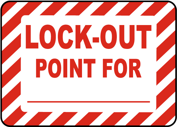 Lock-Out Point For Label