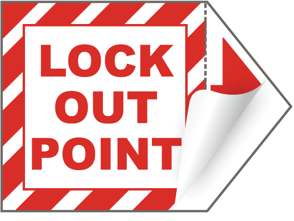 Lock Out Point Arrow Label