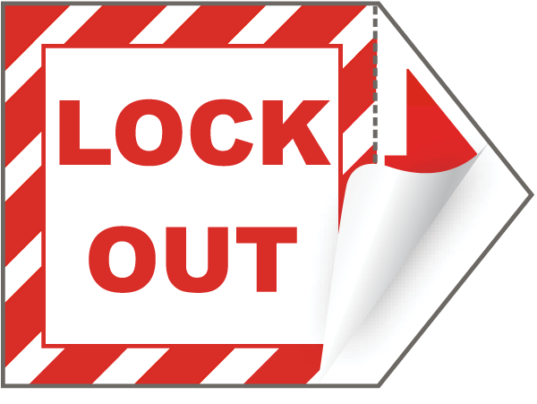 Lock Out Arrow Label