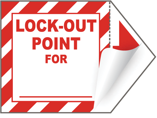 Lock-Out Point For __ Label