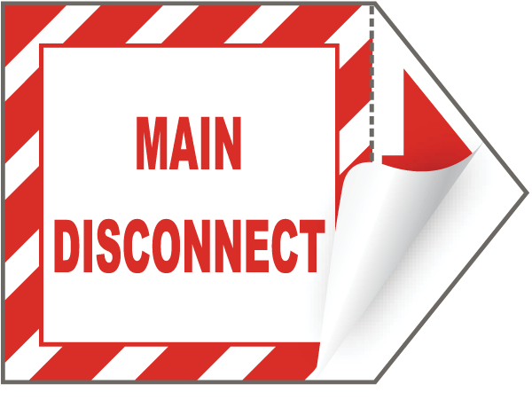 Main Disconnect Arrow Label