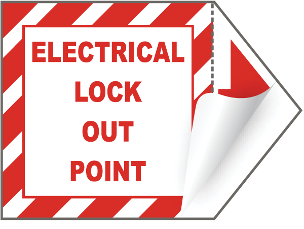 Electrical Lock Out Point Label