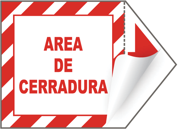 Spanish Lock Out Arrow Label