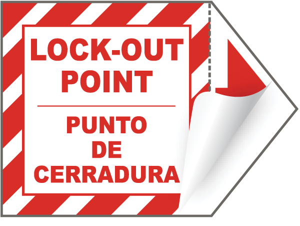 Bilingual Lock-Out Point Sign