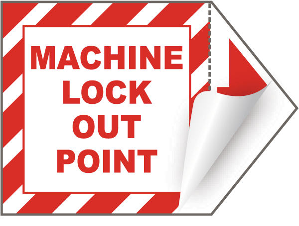 Machine Lockout Point Arrow Label
