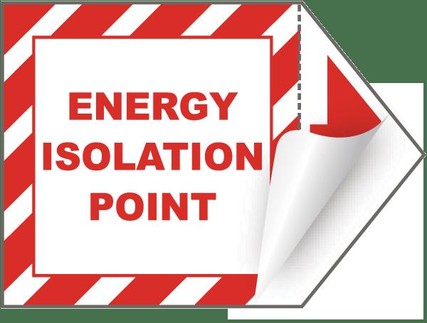 Energy Isolation Point Arrow Label