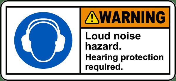 Warning Loud Noise Hazard Label