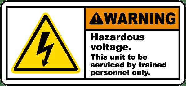 Hazardous Voltage Serviced By Label