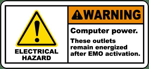 Computer Power EMO Activation Label