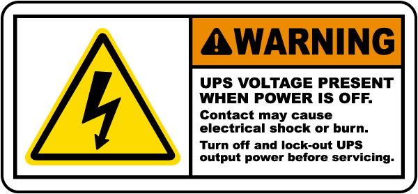 UPS Voltage Present When Off Label