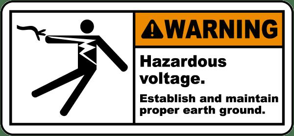 Establish & Maintain Earth Ground Label