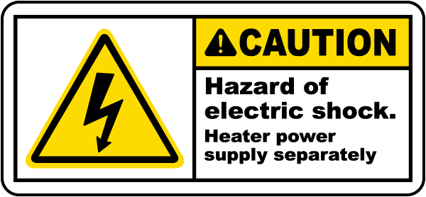 Hazard of Electric Shock Label