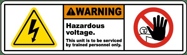 Hazardous Voltage Authorized Label